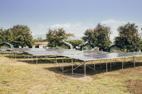 Solar installation in Virunga National Park
