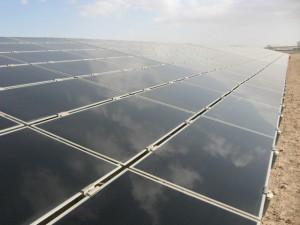 Solar panels in Masdar City. Credit: Zachary Shahan / Solar Love