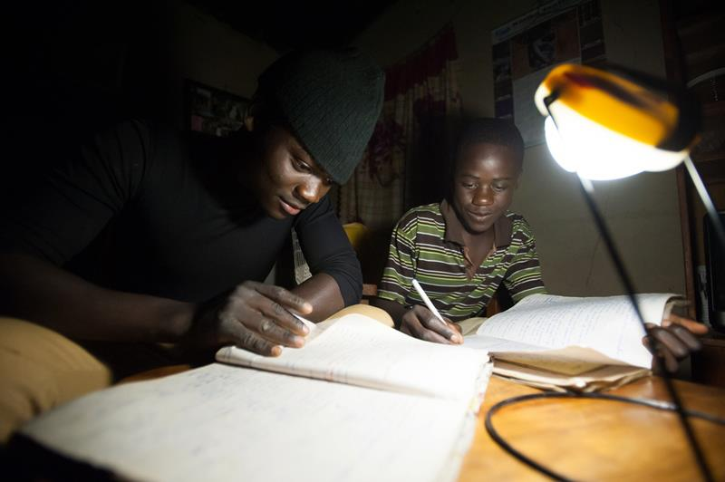 solar aid studying africa