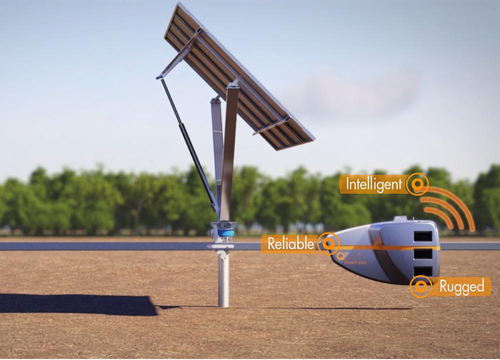 solar robot tracking system