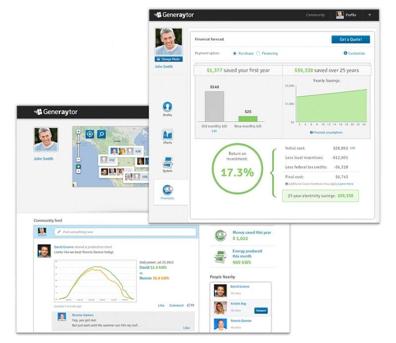 Generaytor Screenshot financials US and community