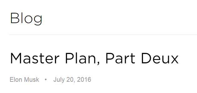 Elon Musk Master Plan Part 2