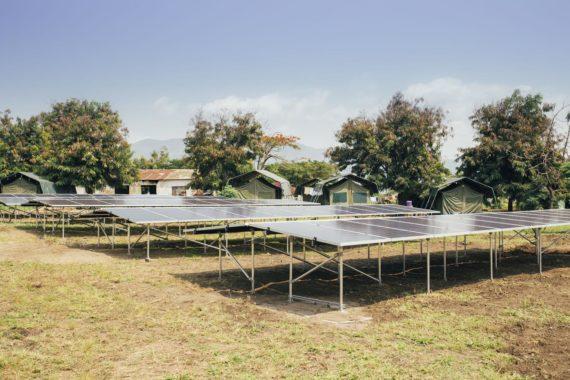 Solar installation in Virunga National Park
