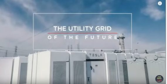 Tesla Powerpack for grid storage